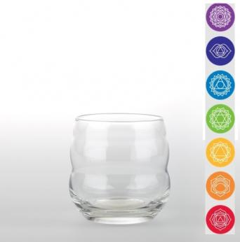 VERRE PENSEE POSITIVE 7 CHAKRAS MYTHOS 0.25L NATURE'SDESIGN