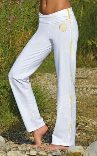 PANTALON Yoga  fleur de vie femme coton bio